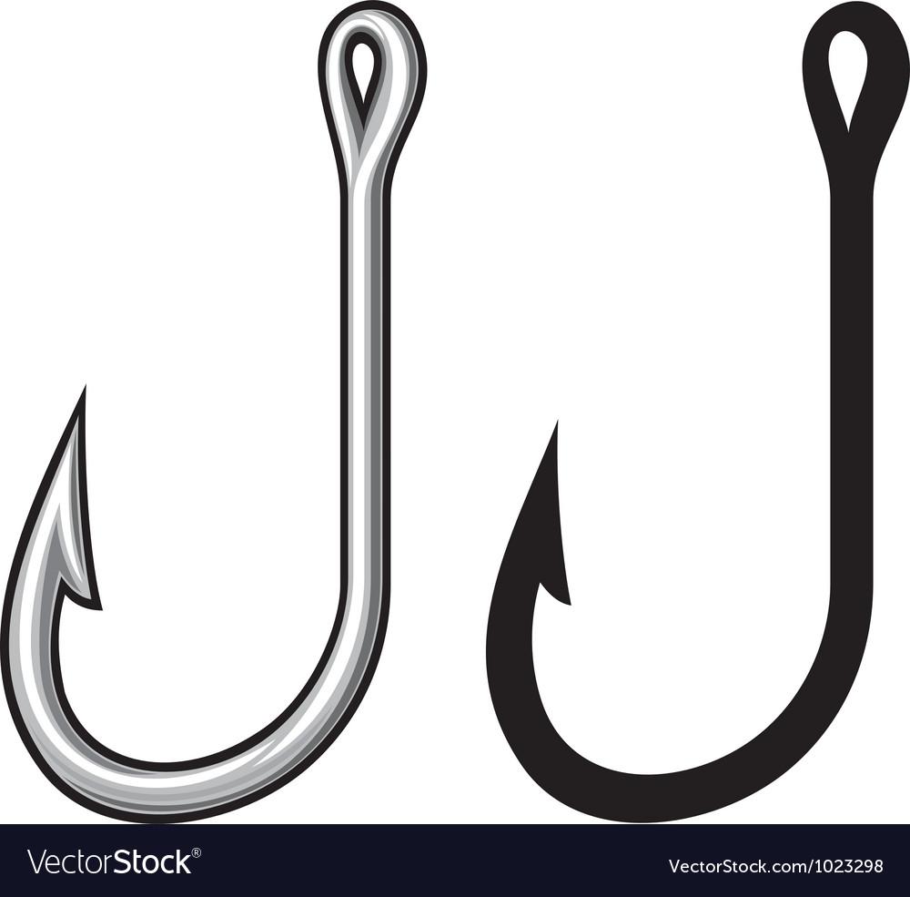 Fishing hook vector image