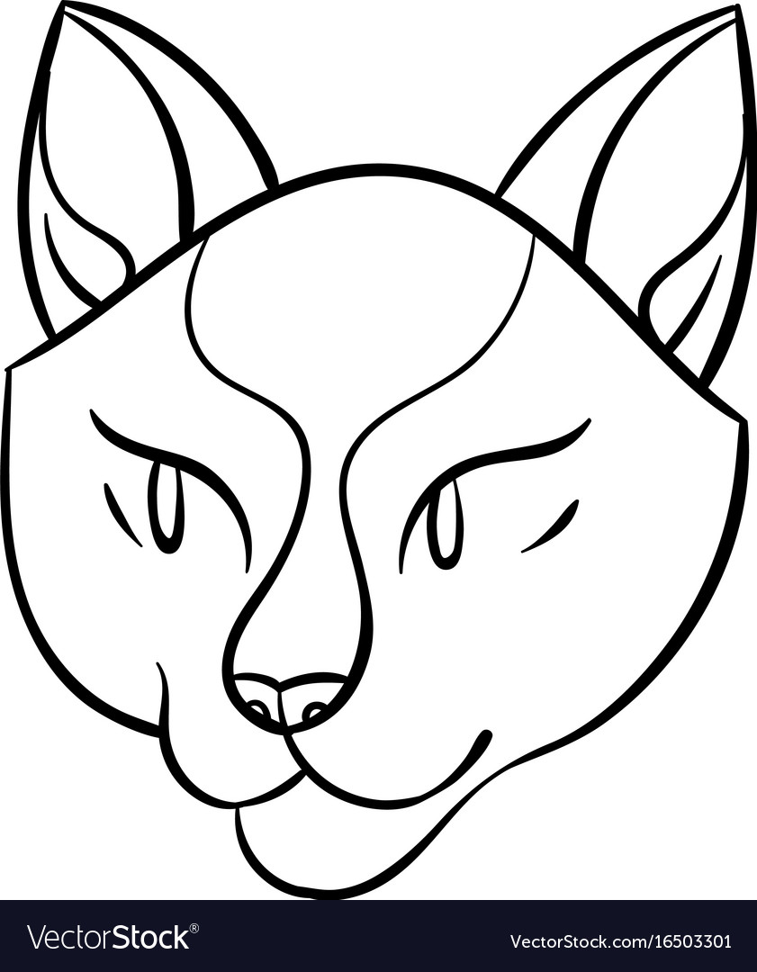 Cartoon cat head vector image