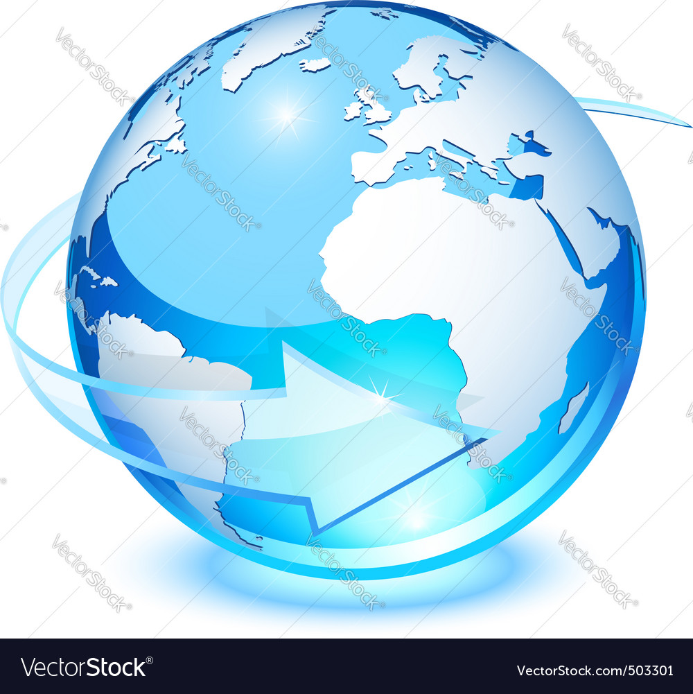 Crystal earth vector image