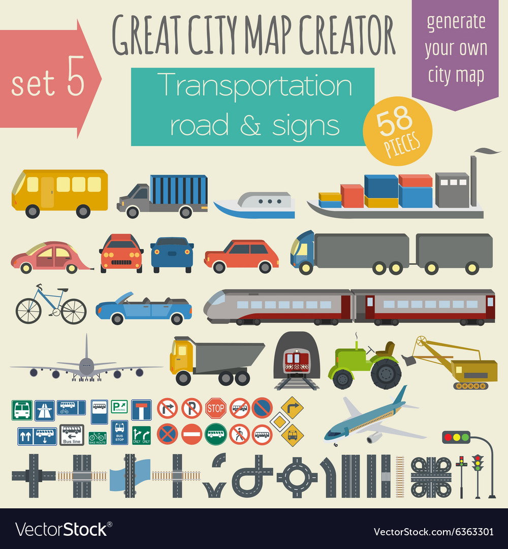 great city map creator house constructor house vector image - House Map Creator