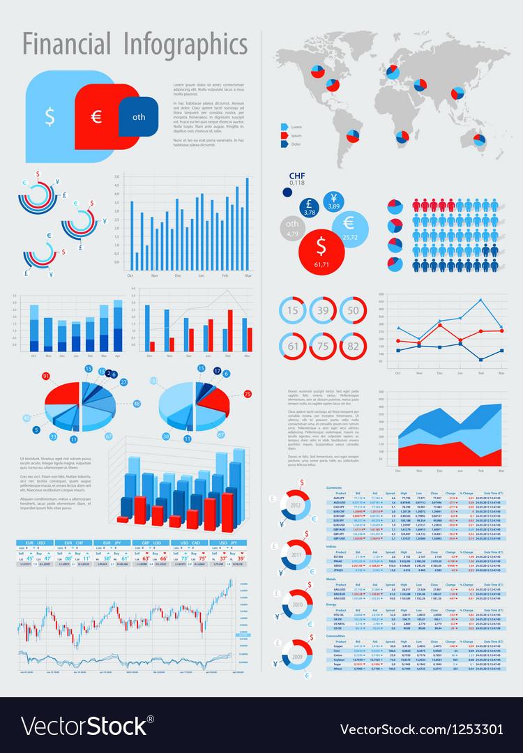 Infofinance vector image