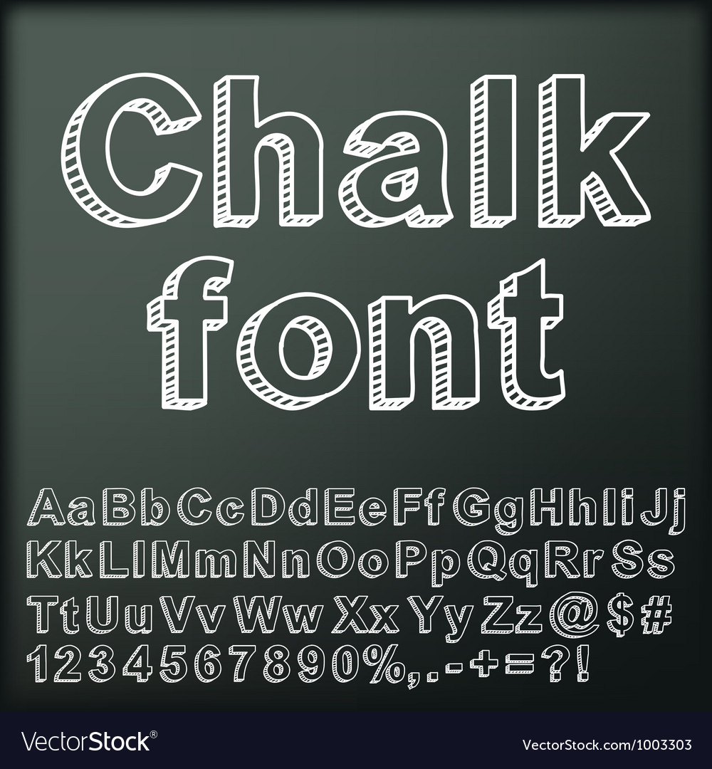 Abstract chalk font vector image