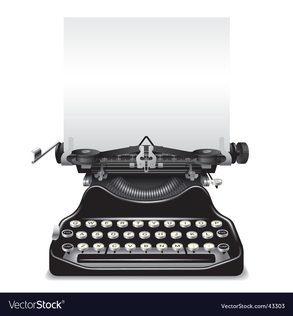 Od typewriter vector image