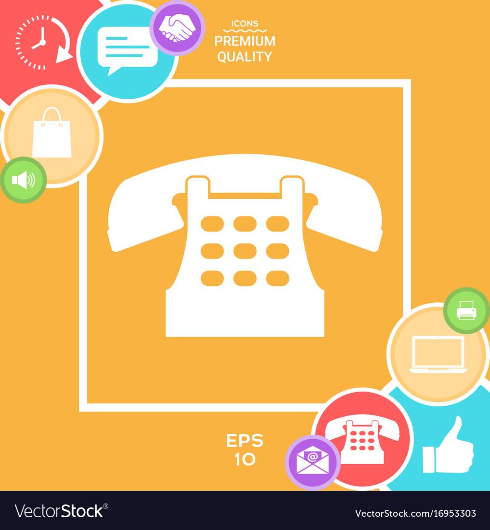 Retro telephone icon vector image