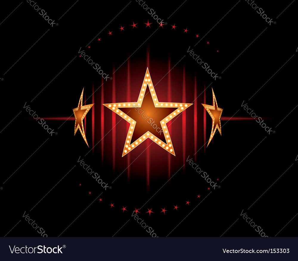 Stars in red vector image