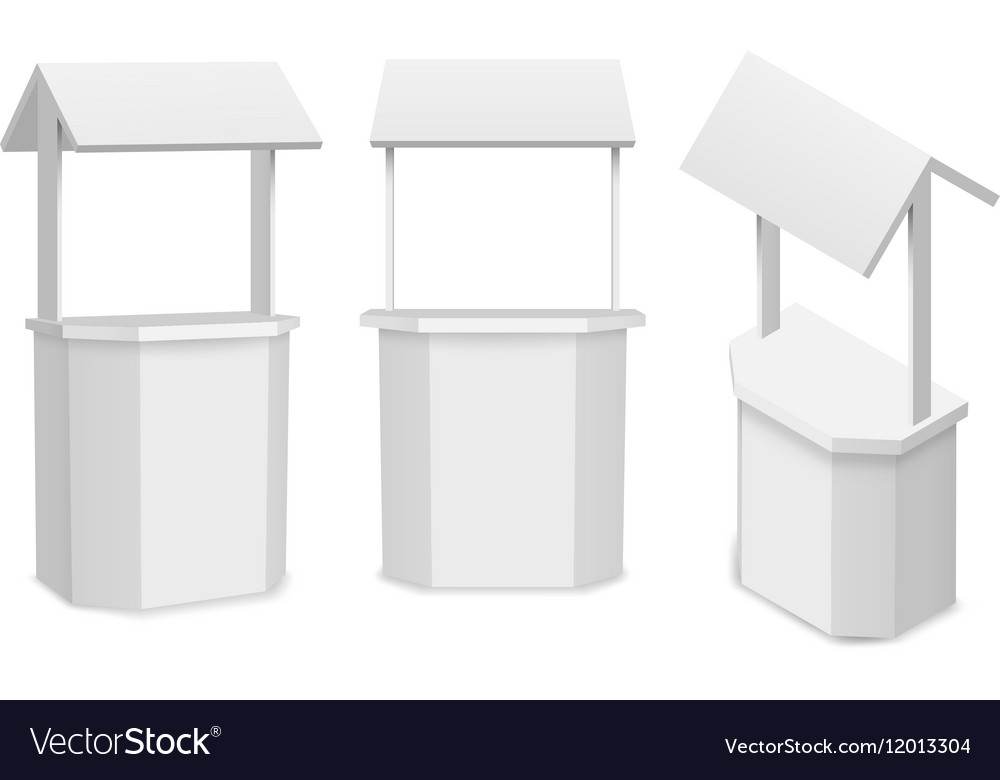 Market stand or retail counter for your vector image