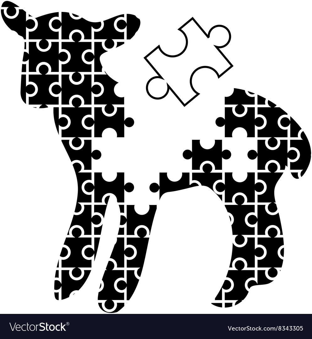 Puzzle-Lamb-380x400 vector image