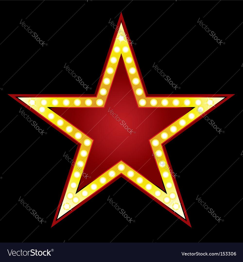 Big star vector image