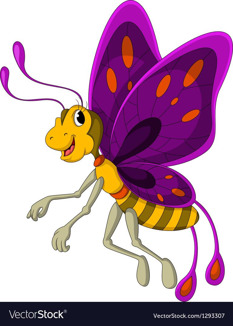 Cute Butterfly cartoon vector image