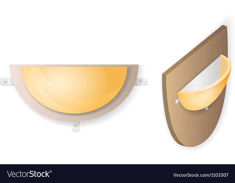 Wall lamp vector image