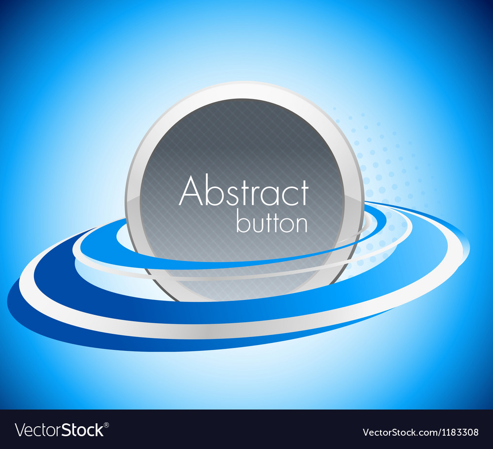 Abstract icon in blue color vector image