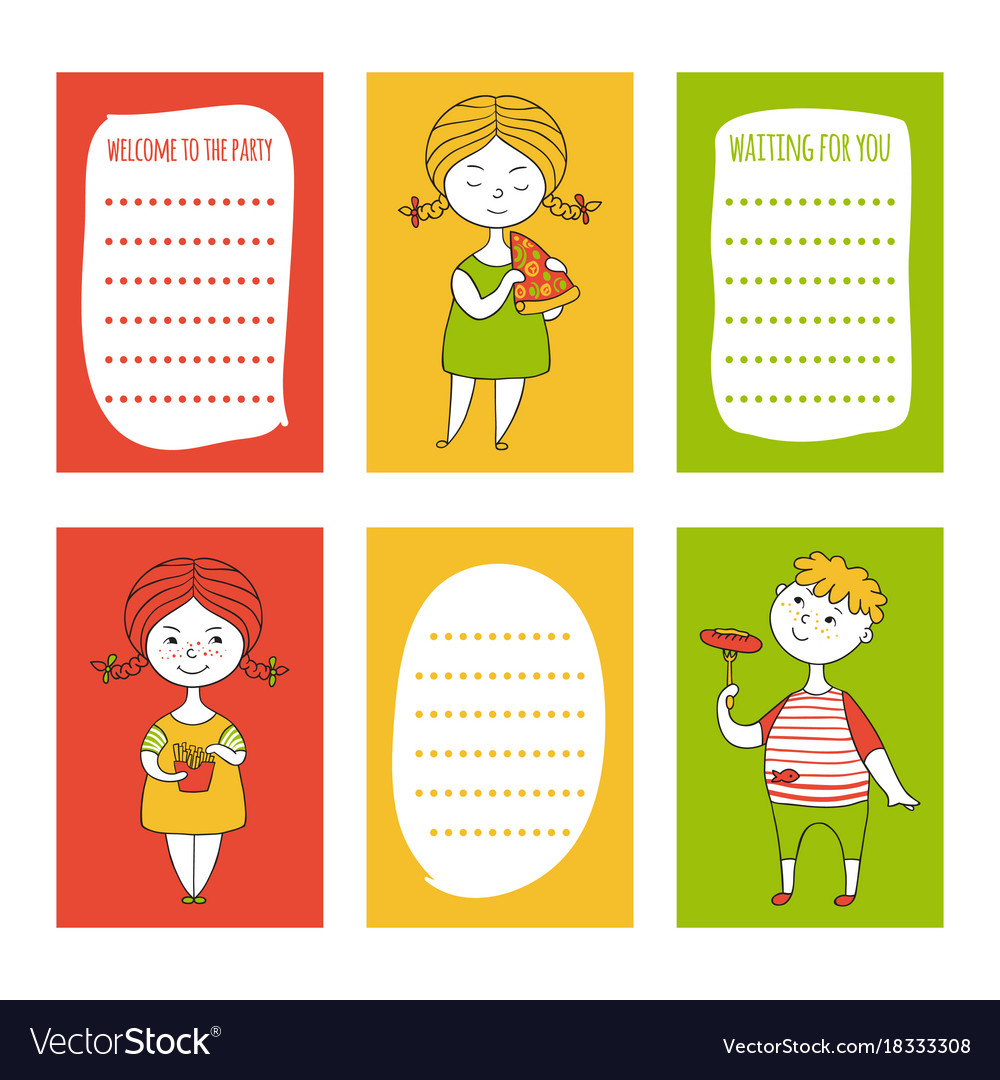 Print templates set vector image