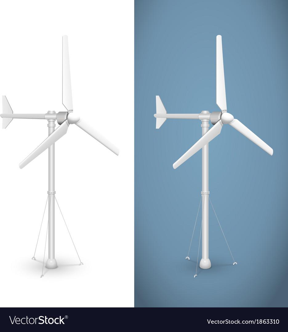 Eco wind turbine isolated vector image
