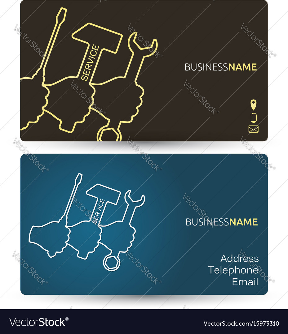 Repair business card vector image