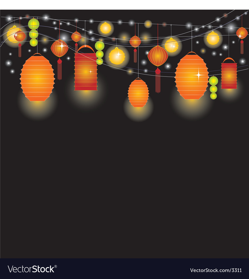 Lantern sky vector image
