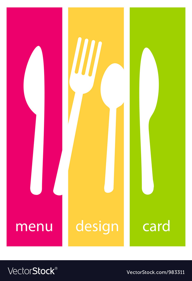 Menu template design Vector Image
