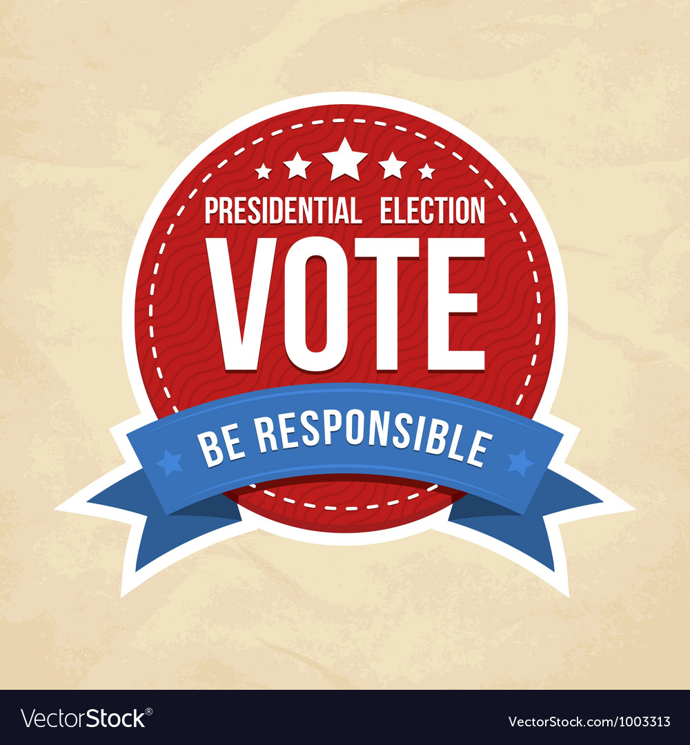 Presidential election label vector image