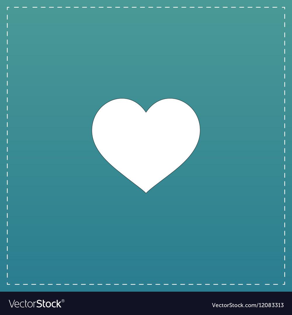 Flat heart icon vector image