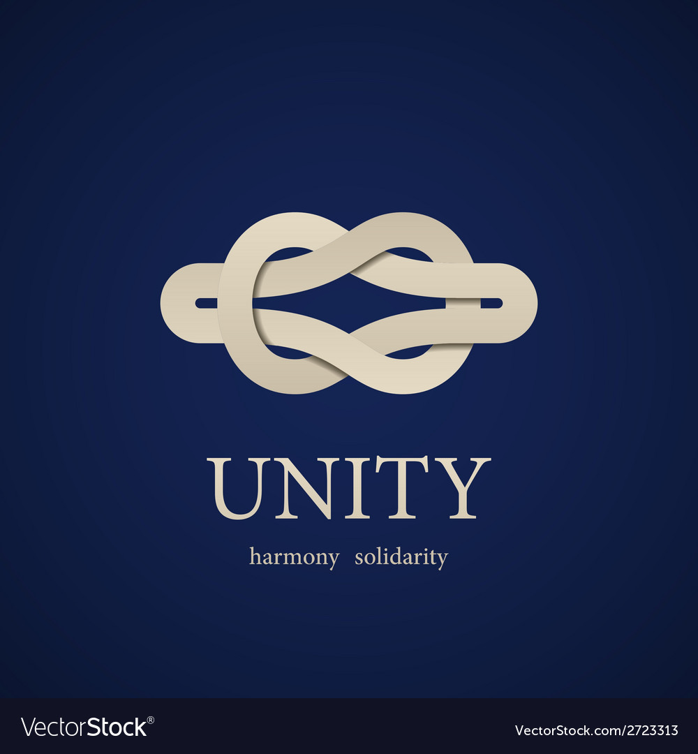 Unity knot symbol design template vector image