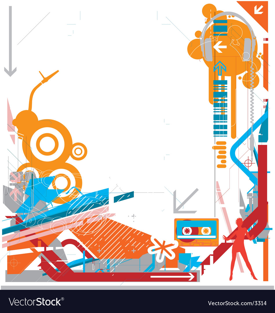 Abstract DJ music background vector image