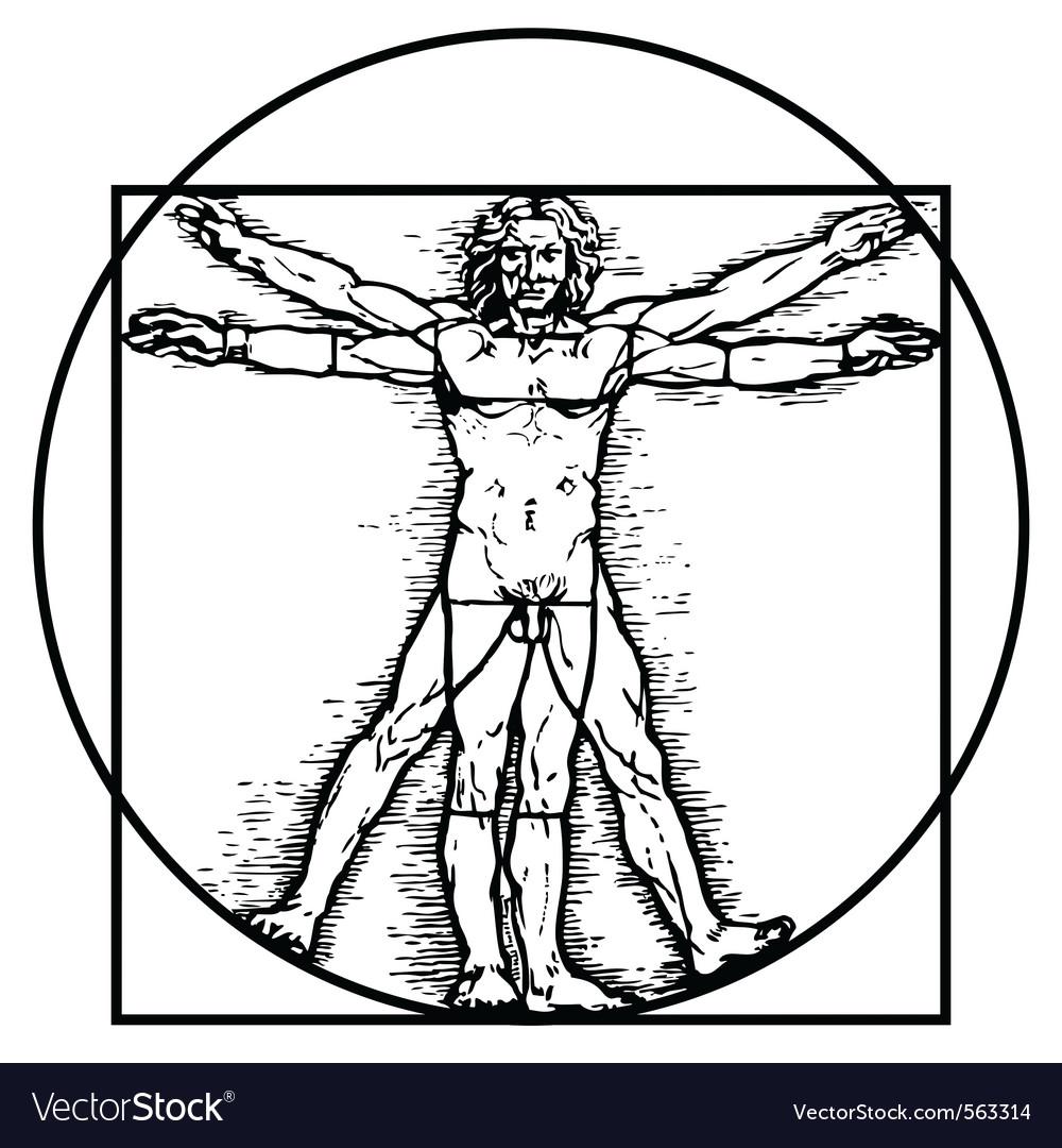 Vitruvian man Royalty Free Vector Image - VectorStock