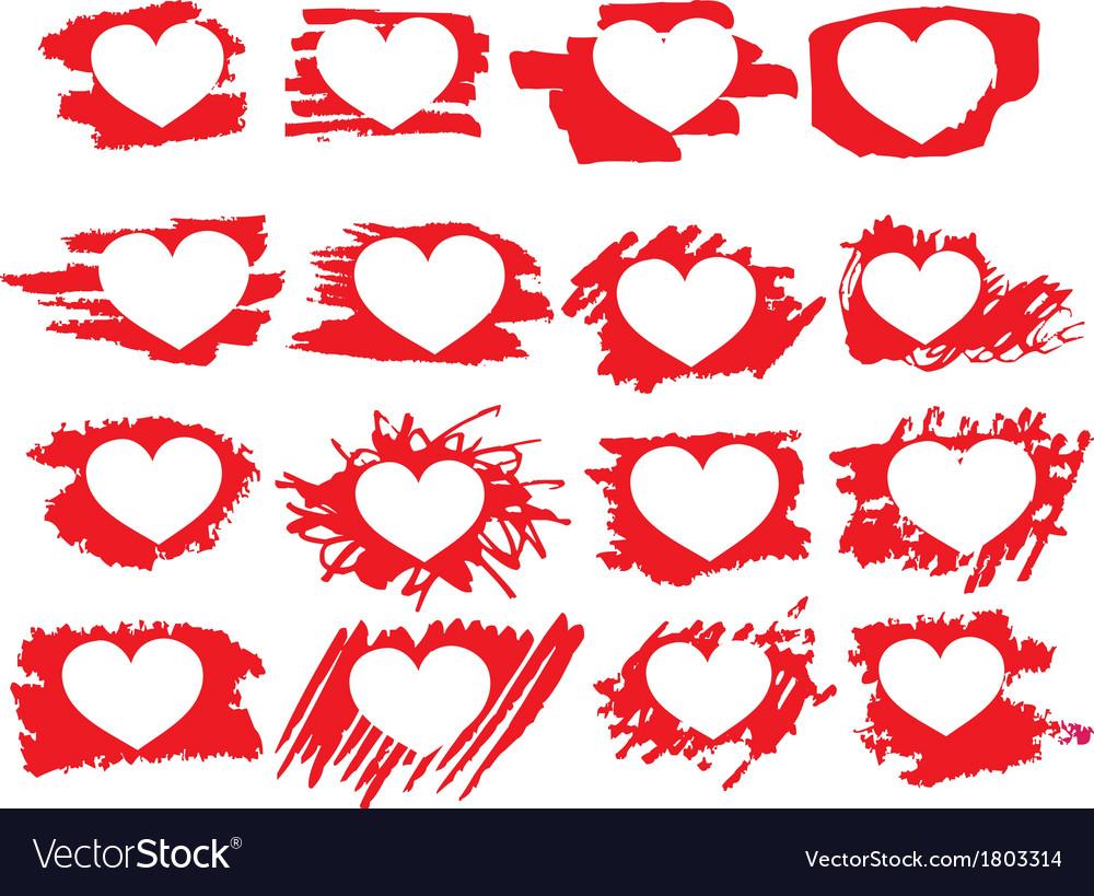Set of symbol brush paint hearts royalty free vector image set of symbol brush paint hearts vector image buycottarizona