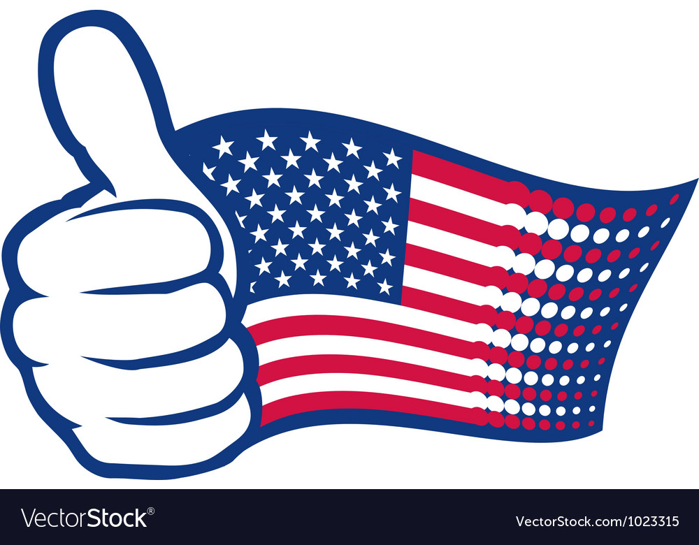 USA thumbs up vector image