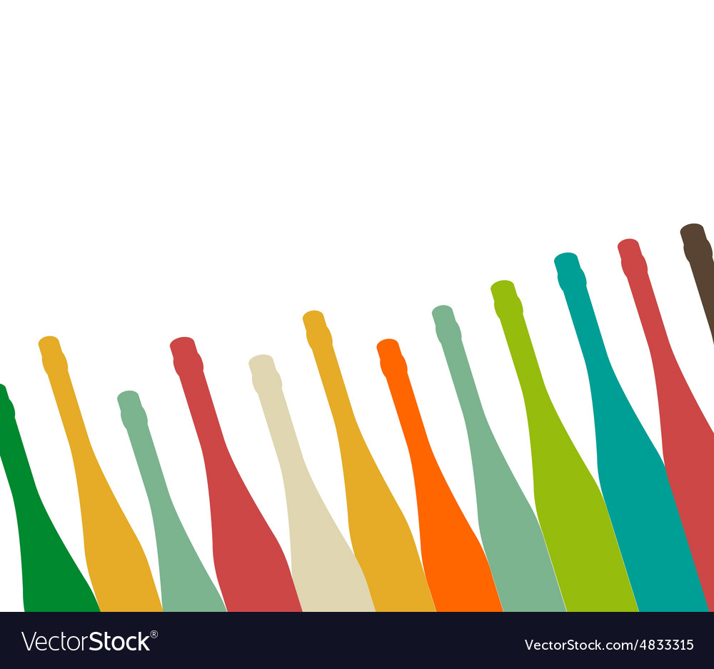 Bottle color vector image