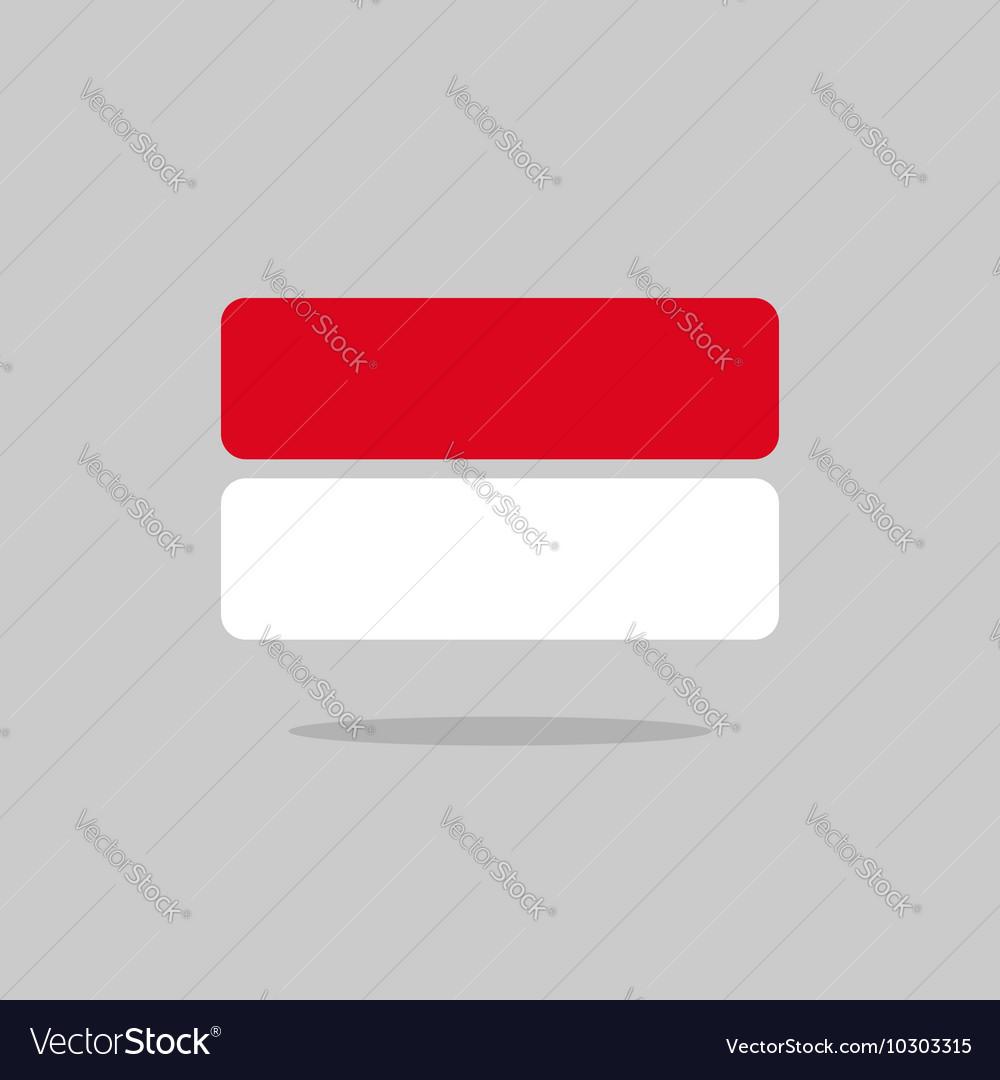 Monaco flag state symbol stylized geometric vector image