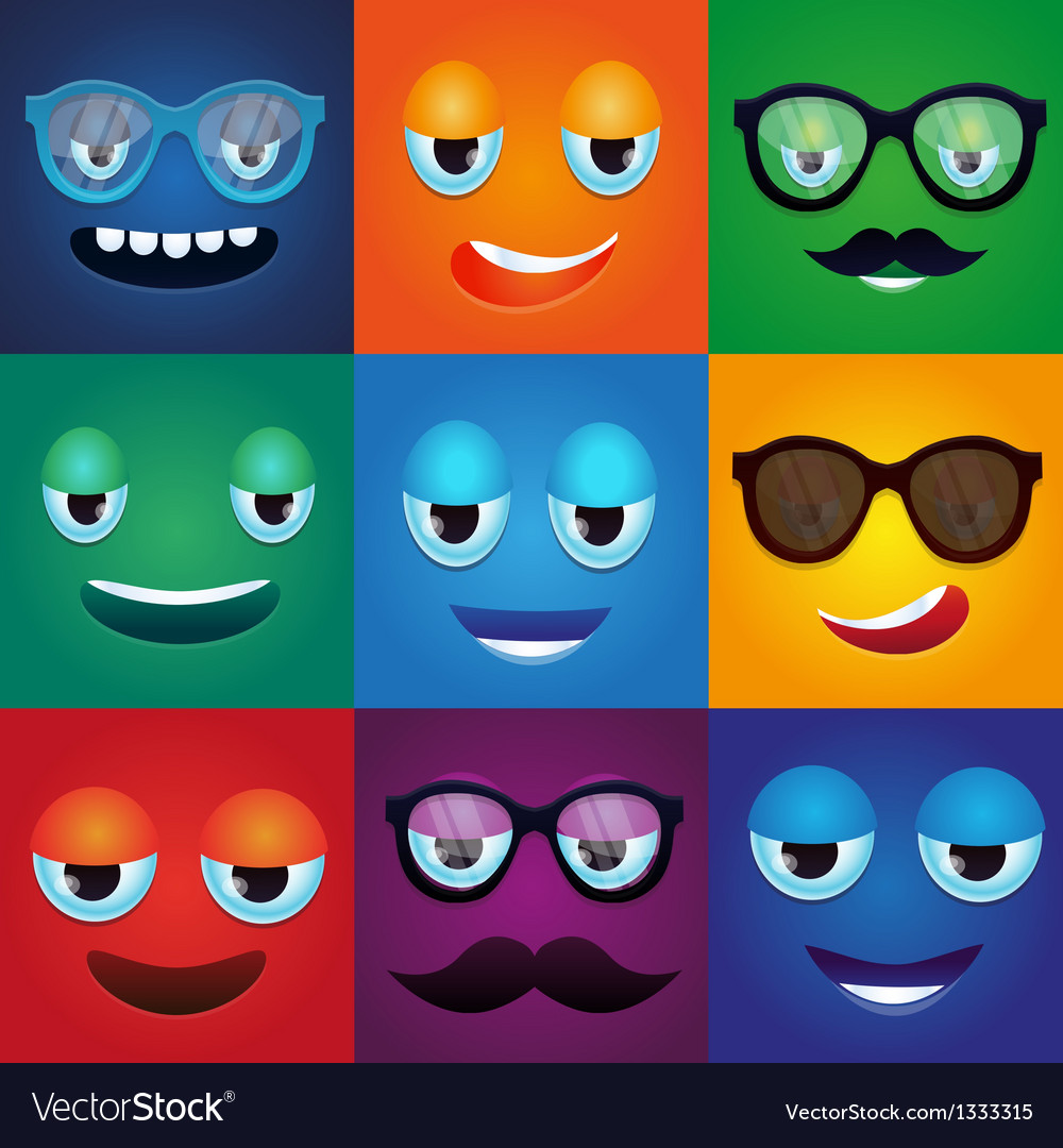 Set with cartoon funny monsters vector image