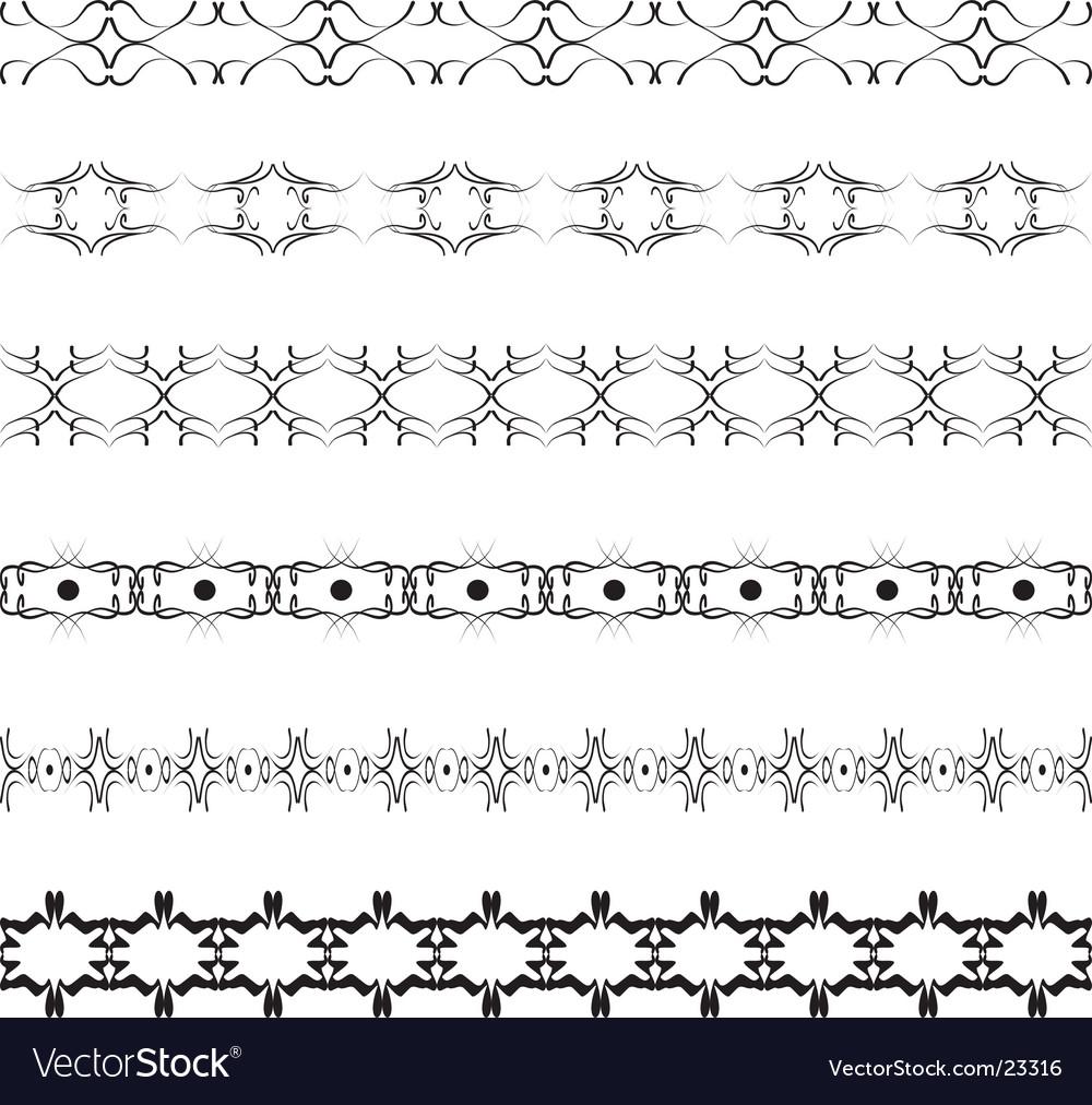Beauty borders vector image