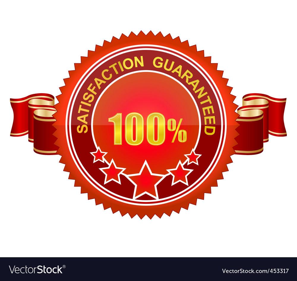 Guaranteed sign vector image