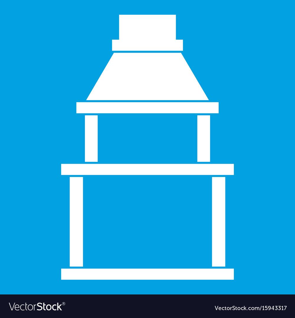 Bbq grill icon white vector image