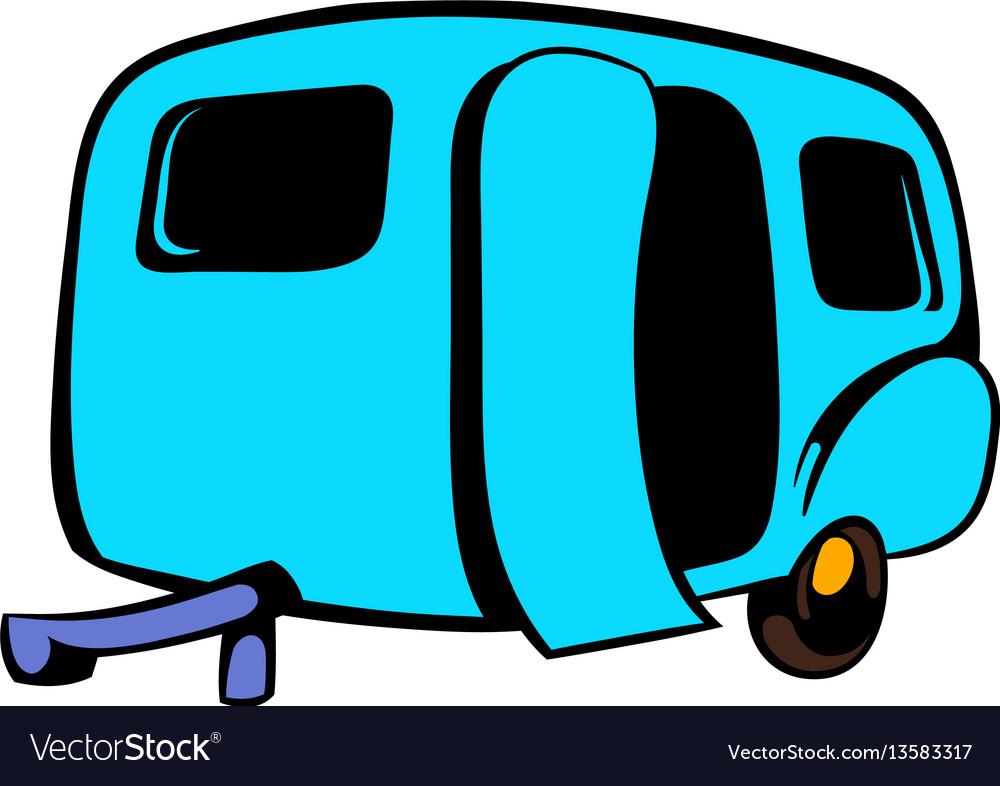 Camping trailer icon icon cartoon vector image