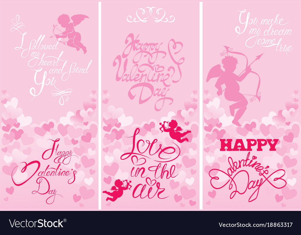 set of 3 holiday vertical banners with cute angels