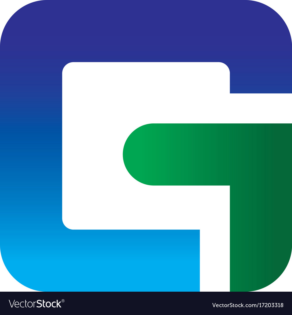 Abstract letter g business logo vector image