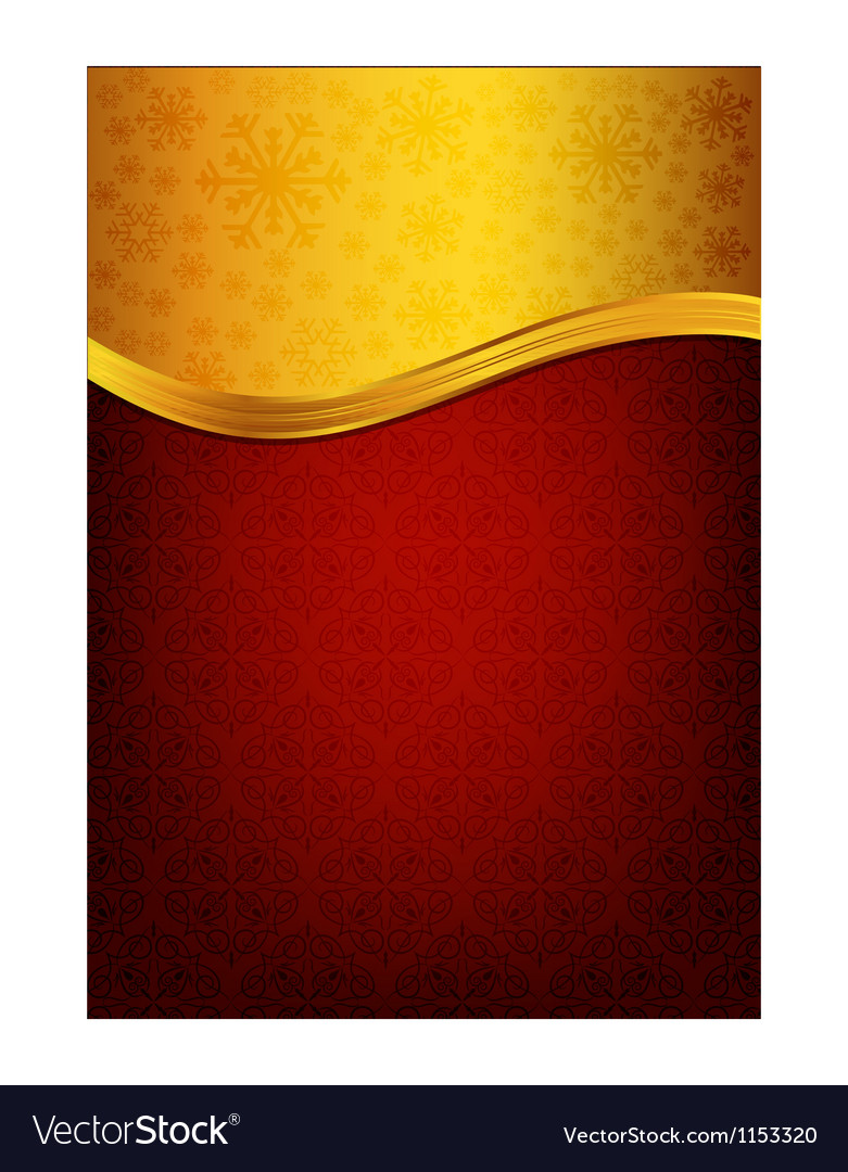 Abstract red background and golden label Vector Image