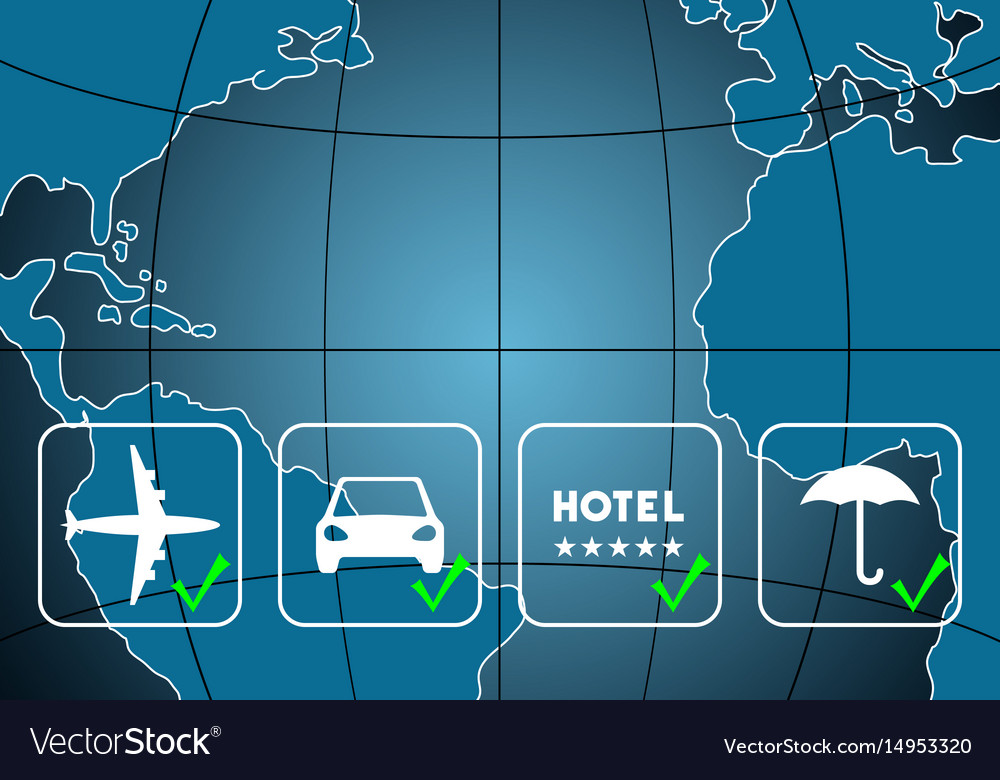Travel Agency Background Vector Image