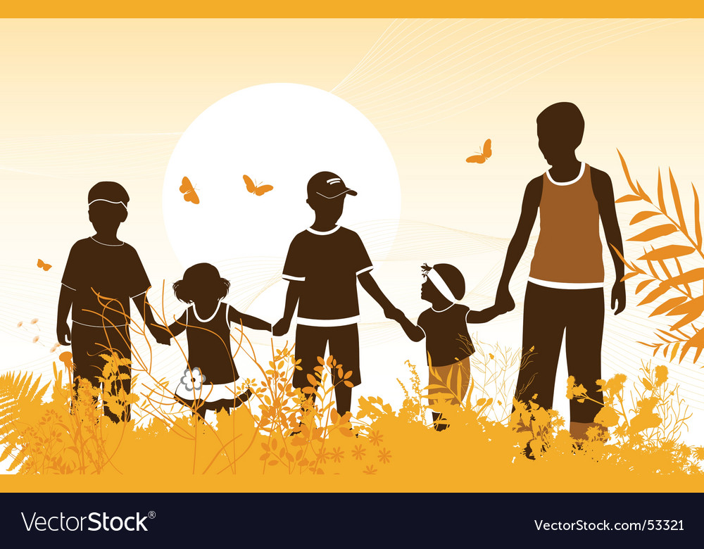 Childhood vector image