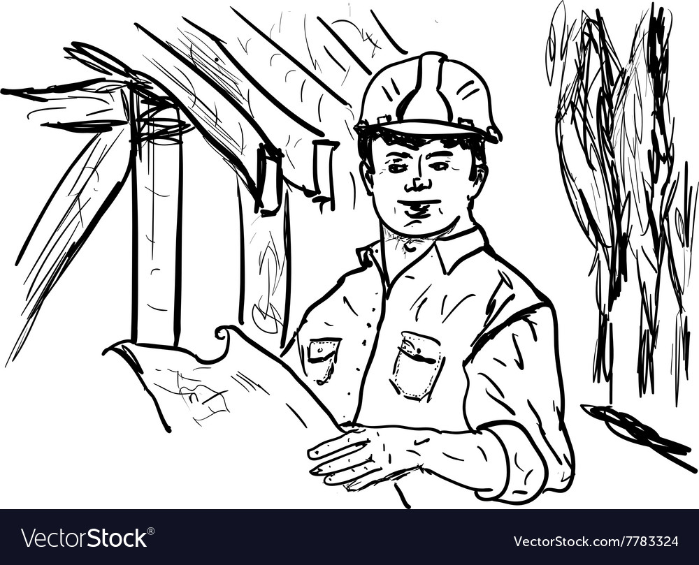 Building site vector image