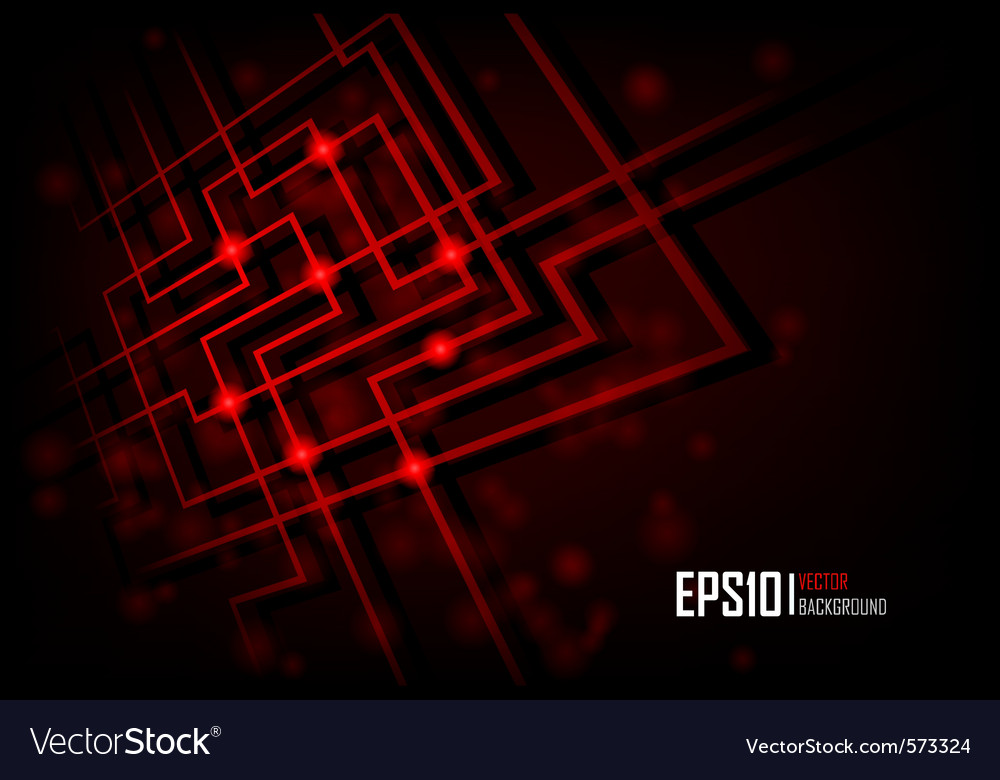 Red abstract glowing background vector image
