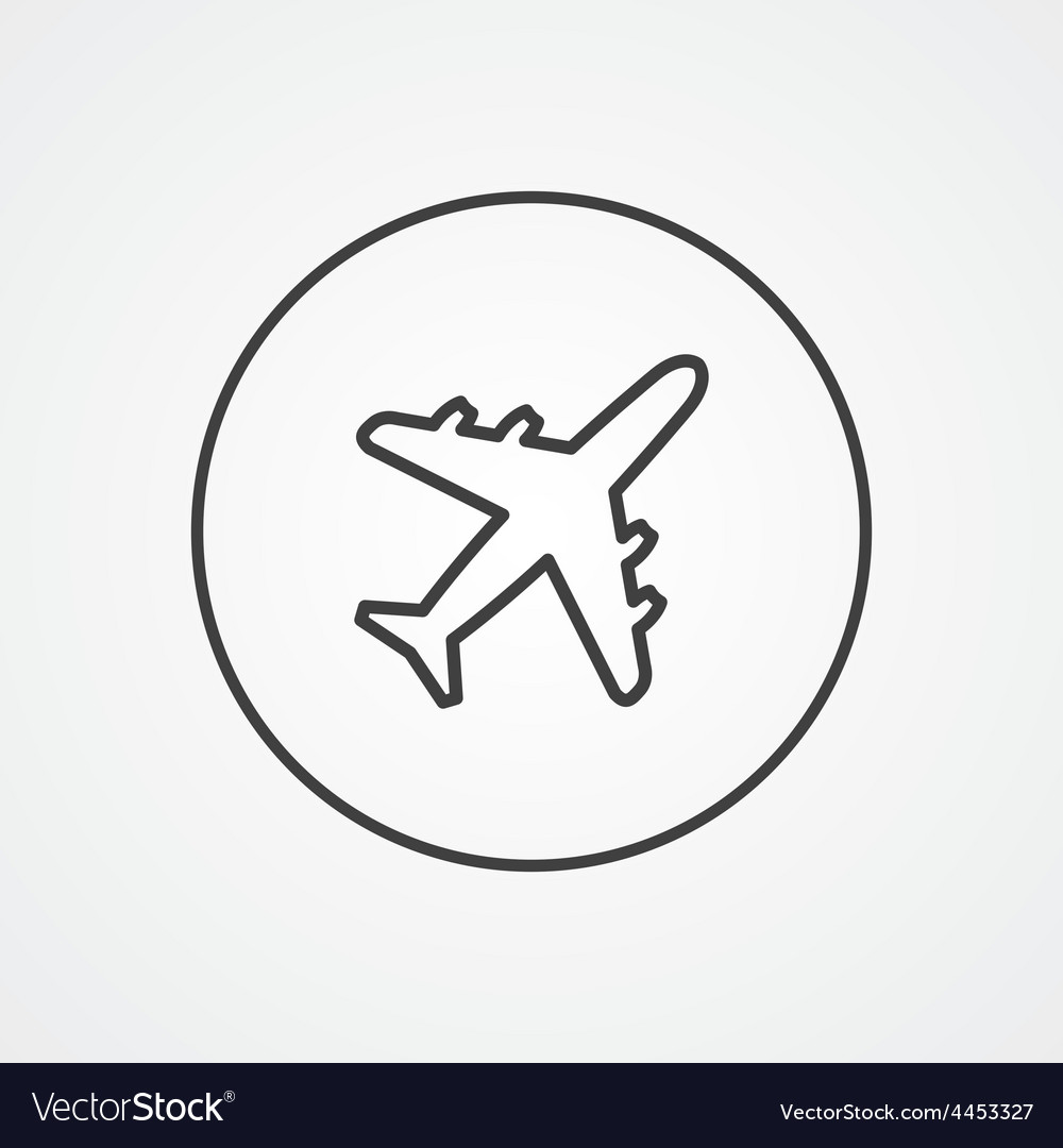 airplane outline icon best airplane 2017