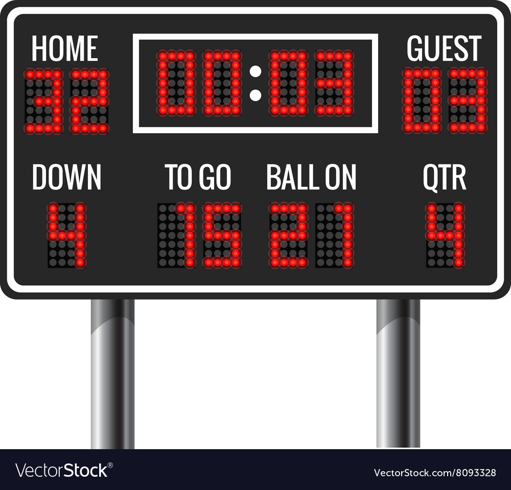 American football scoreboard vector image