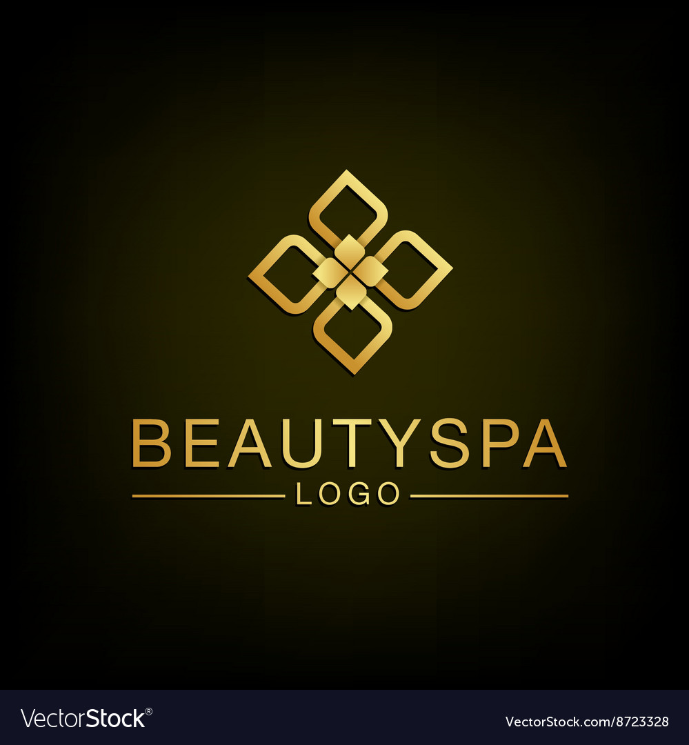 Beauty Flower spa logo design vector image