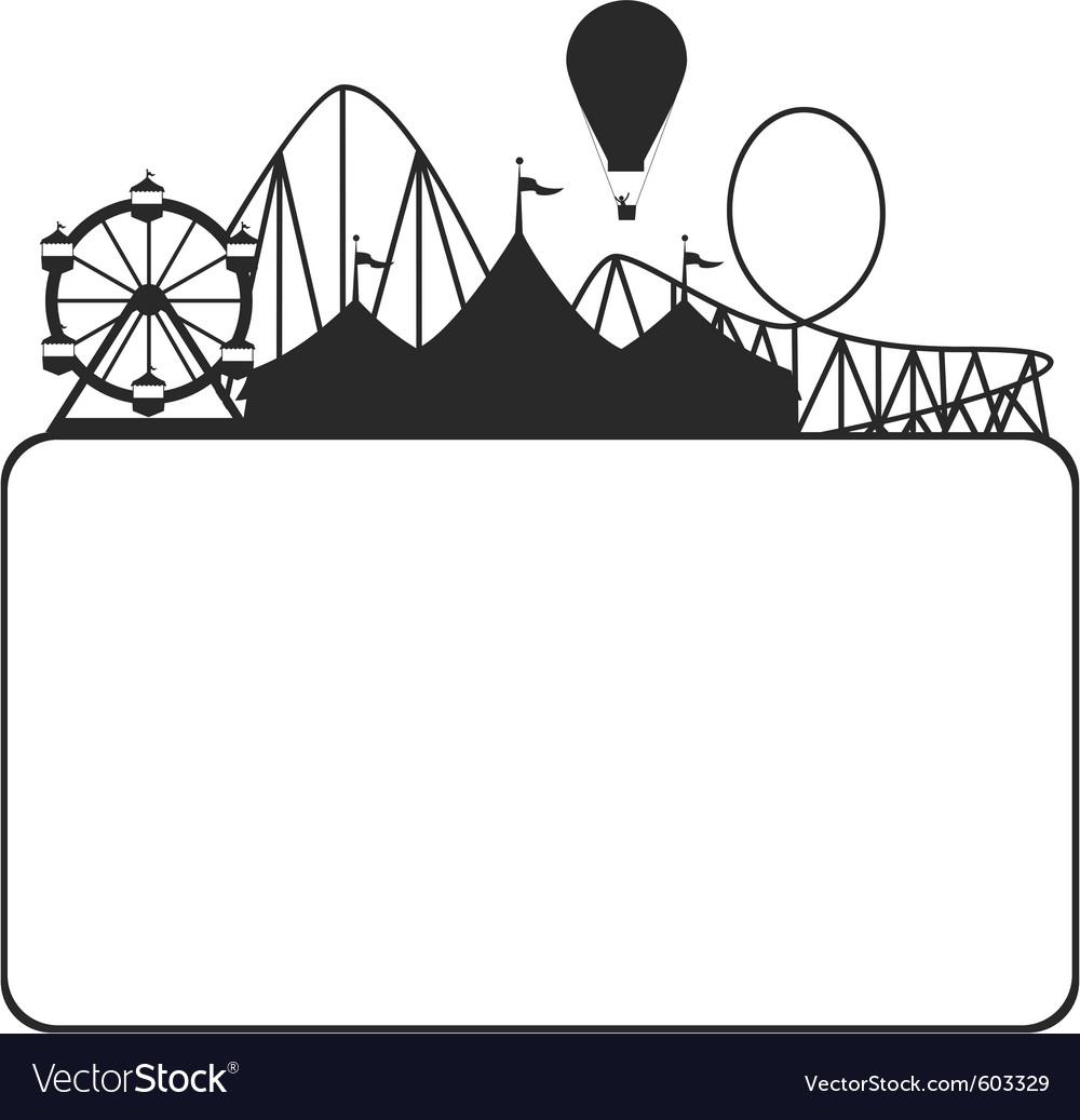 Carnival silhouette vector image