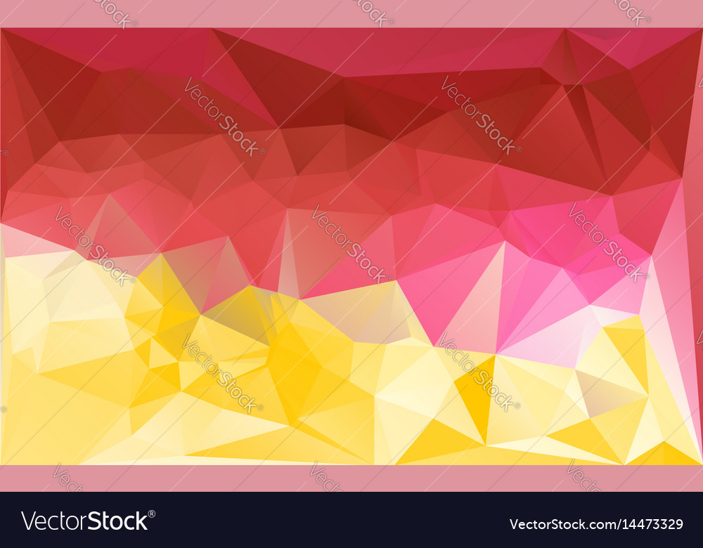 Lowpoly pattern bright vector image