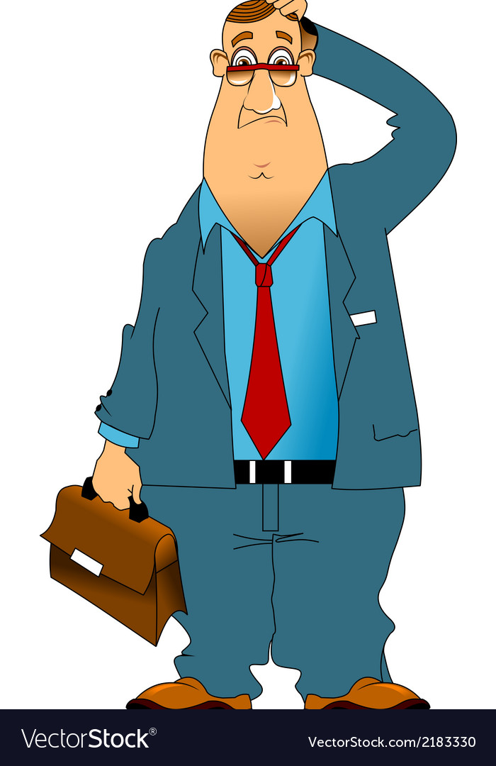 Old businessman cartoon vector image