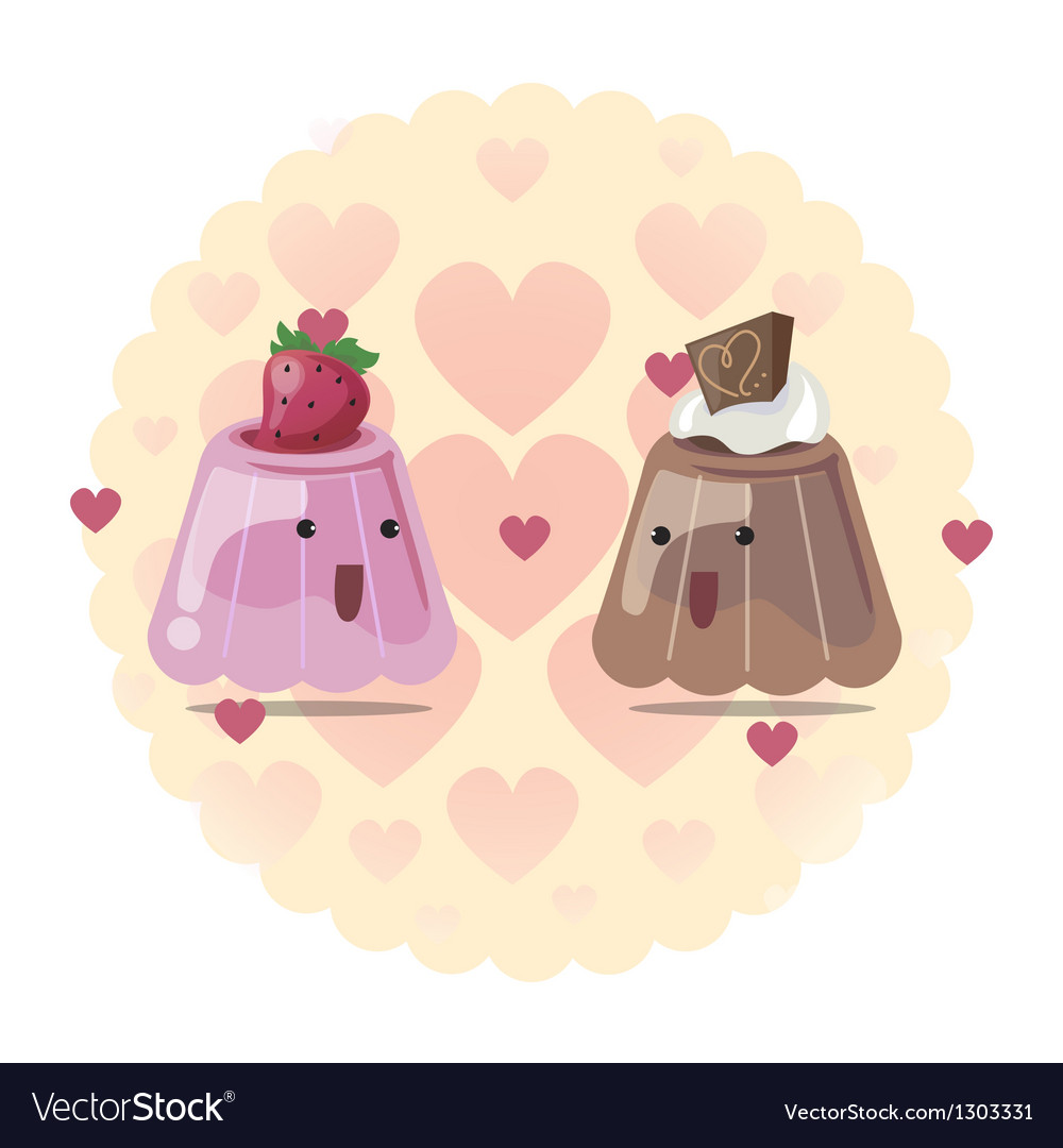 Pudding vector image