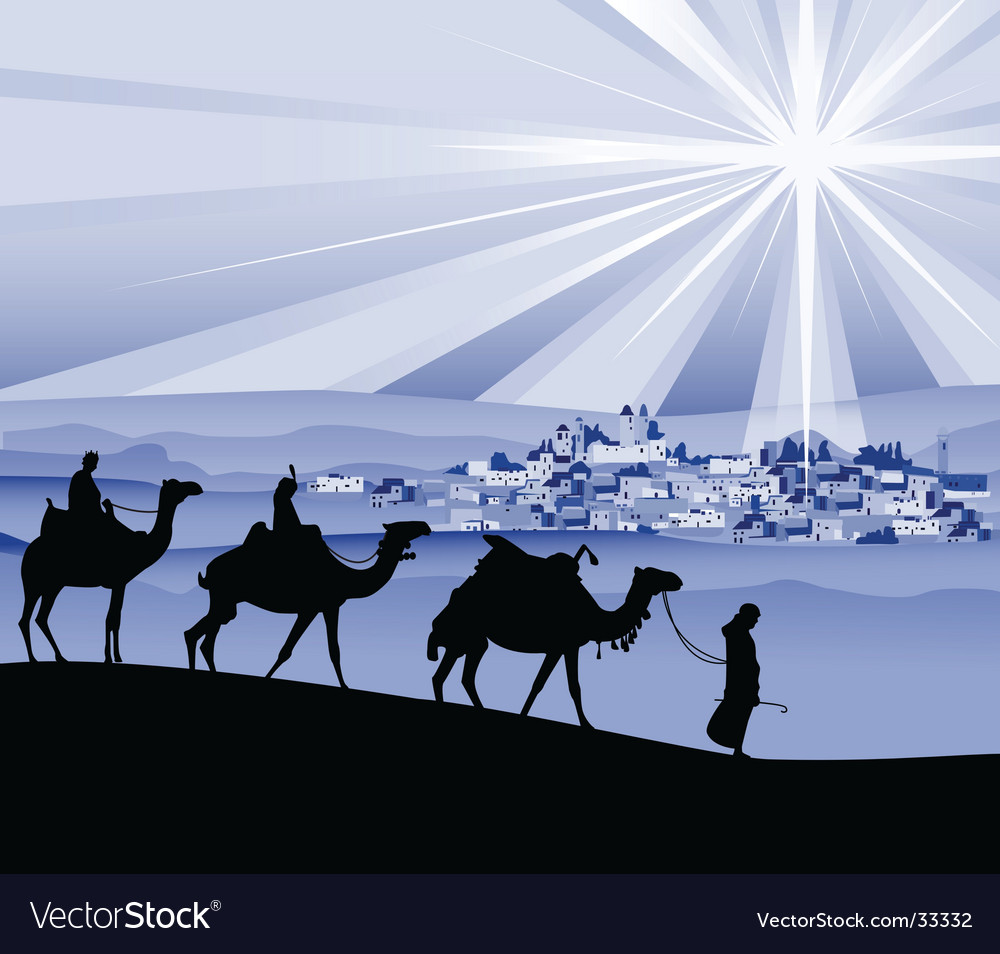 The three wise men vector image