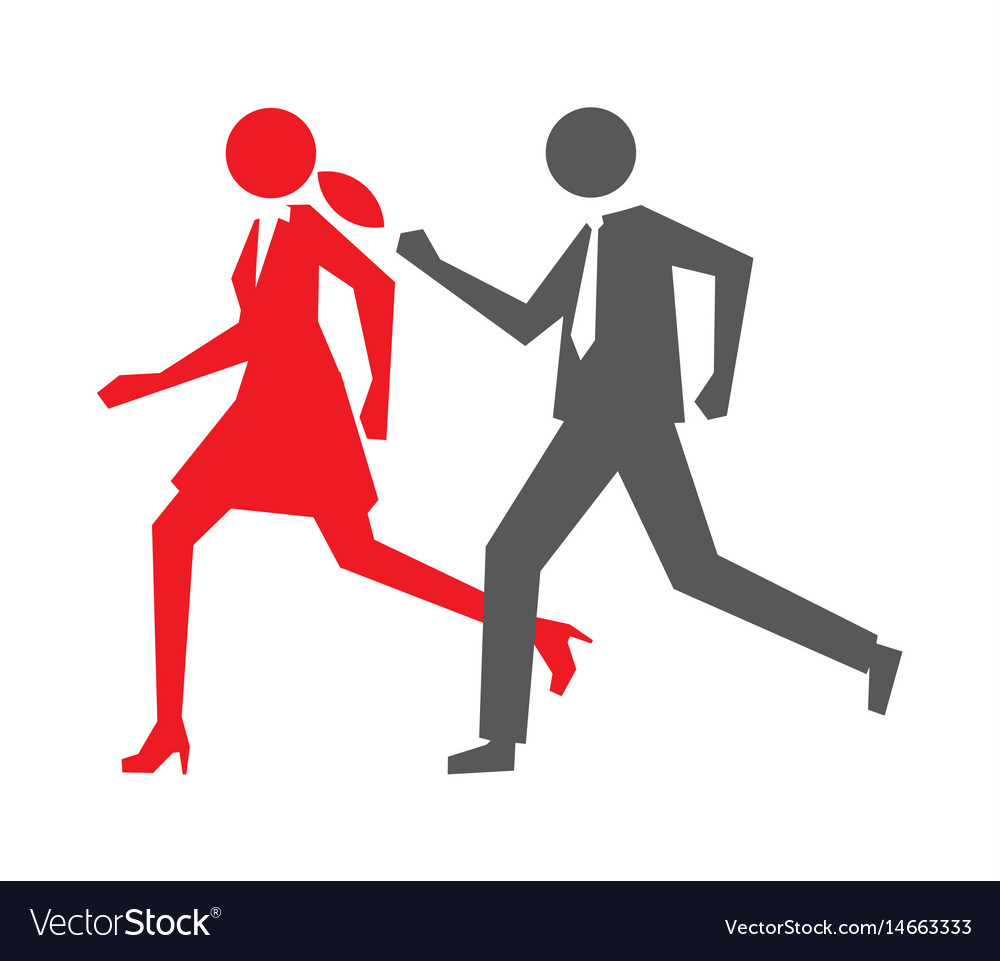 Business run vector image